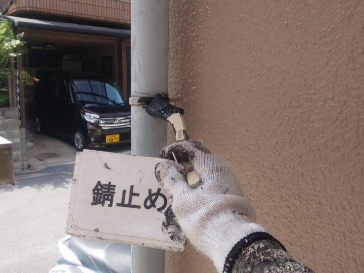 縦樋塗装工事