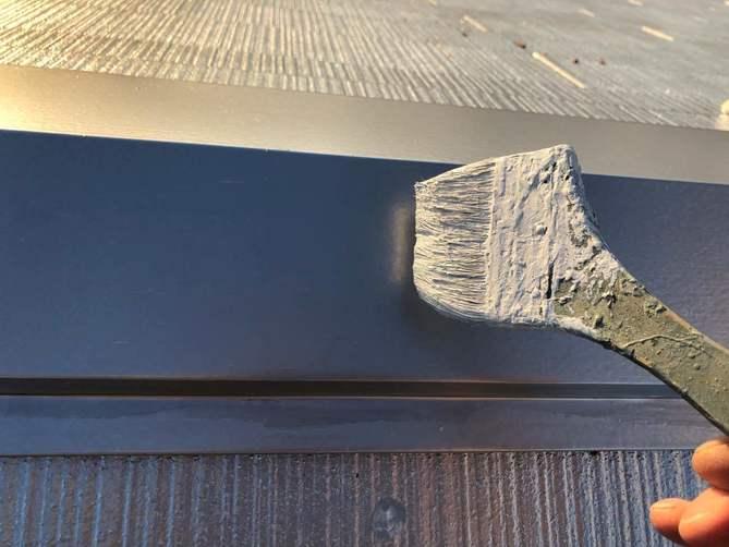 棟押さえ板金塗装 上塗り2日目