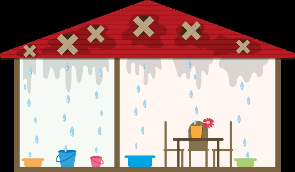 門真市の雨漏り