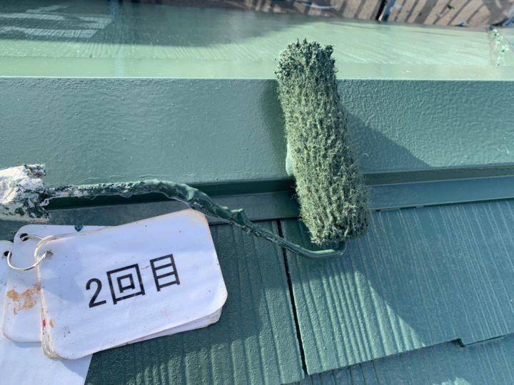 屋根塗装 棟押さえ板金塗装工事