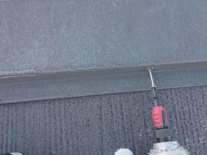 屋根塗装 棟押さえ板金 釘打替え工事