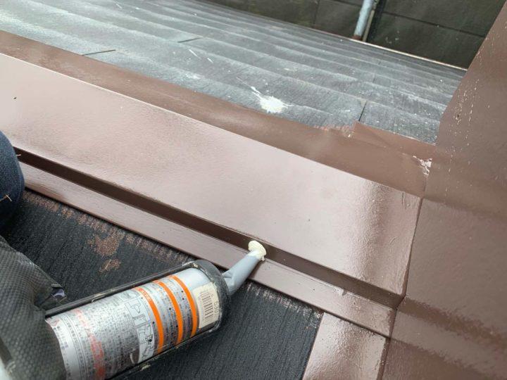 板金塗装工事 コーキング処理