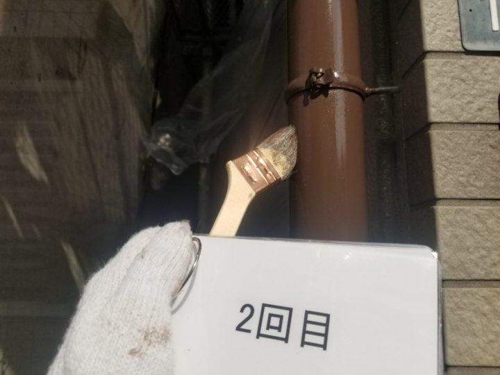 雨樋塗装工事 1.2回目