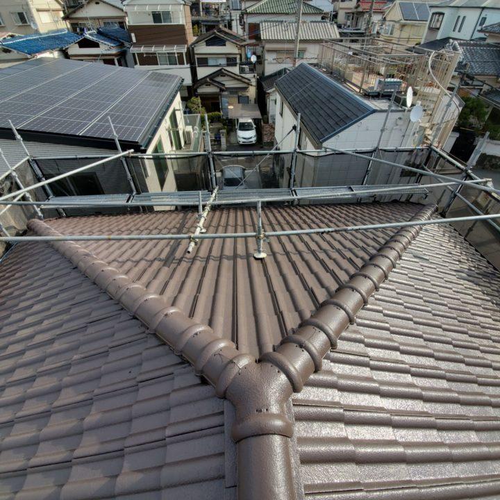【寝屋川市】屋根塗装・付帯部塗装・雨漏れ補修 T様邸 施工後