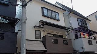 門真市S様邸 契約前に家の現況の写真や塗料の説明や・・・