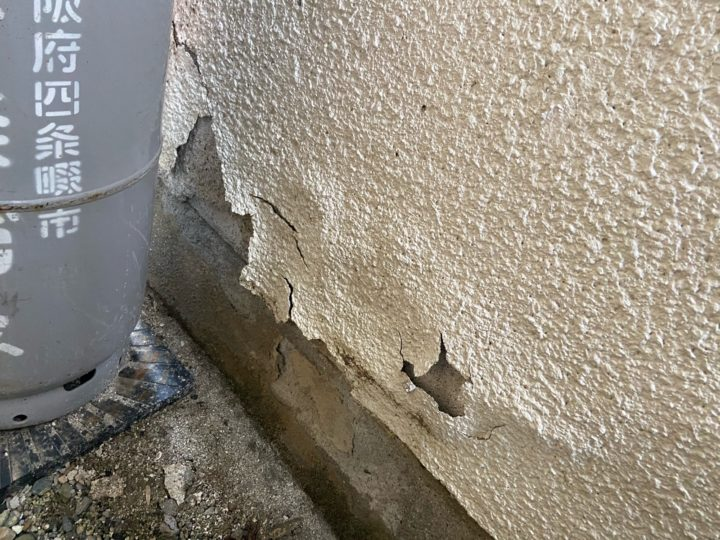 外壁塗装 補修 施工前