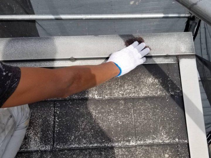 屋根塗装 棟押さえ板金 ケレン
