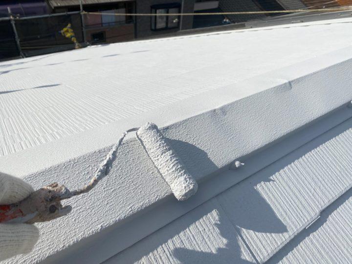 屋根塗装 棟板金 2回目