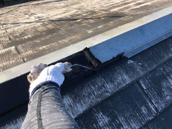 屋根塗装 棟板金 錆止め