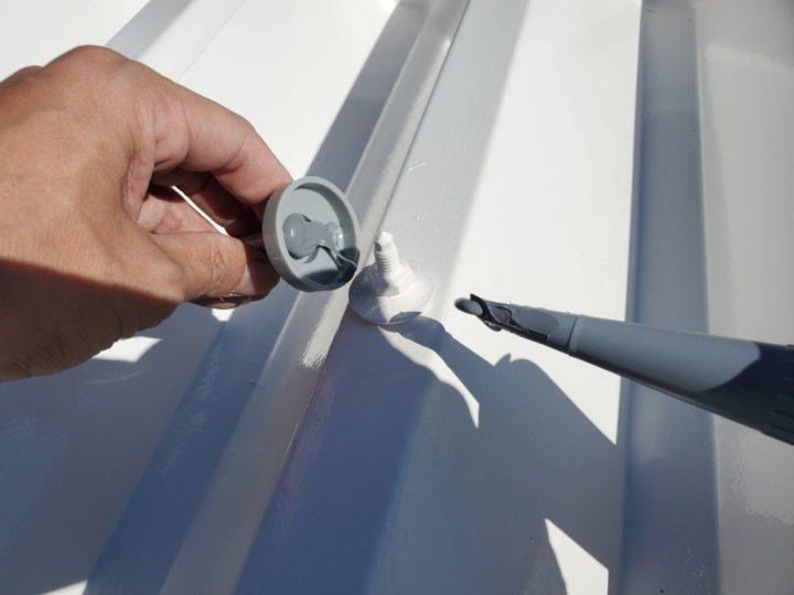 屋根塗装 テンキャップ打設