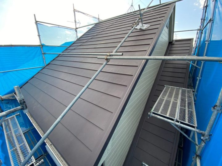 屋根重ね葺き 屋根施工