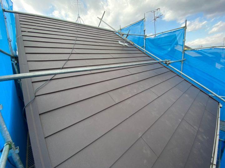 屋根重ね葺き 施工完了