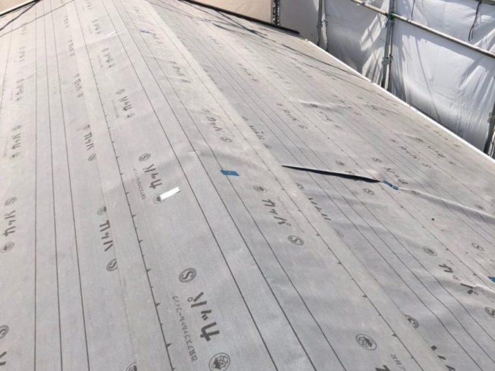 屋根 カバー工事 ルーフィング敷設