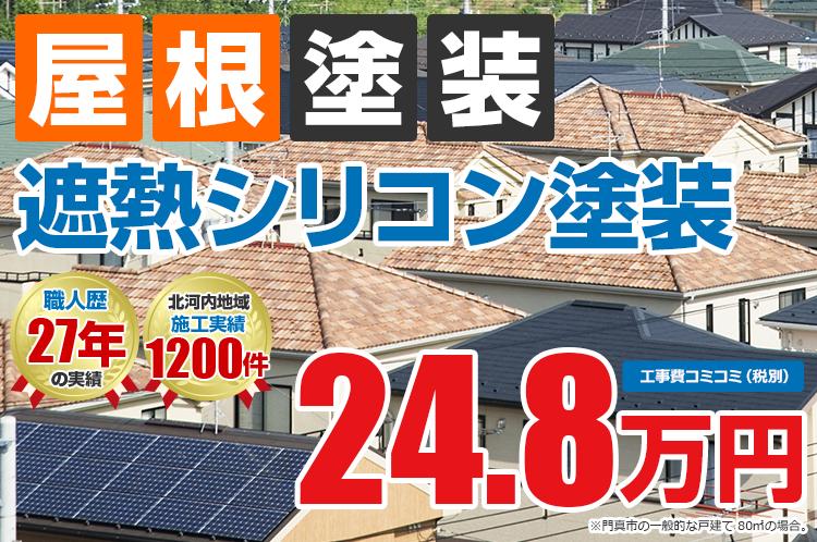 遮熱シリコンプラン塗装 24.8万円
