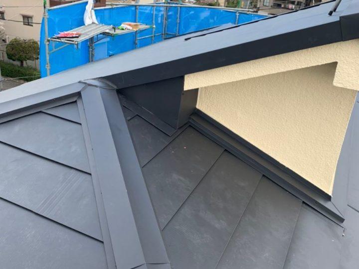 屋根カバー工法 施工完了