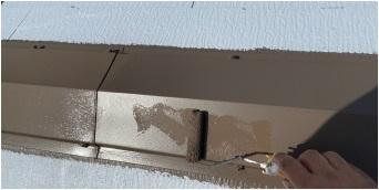 屋根塗装 棟押さえ板金 2回目