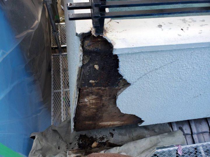 外壁 漏水箇所補修 撤去