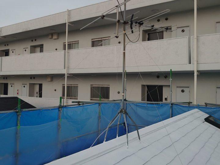 屋根塗装 アンテナ施工前
