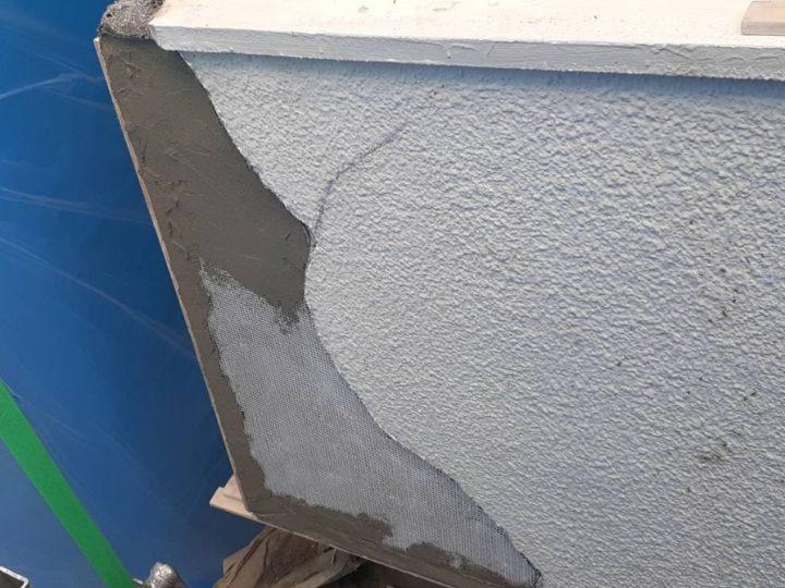 外壁 補修 補修中