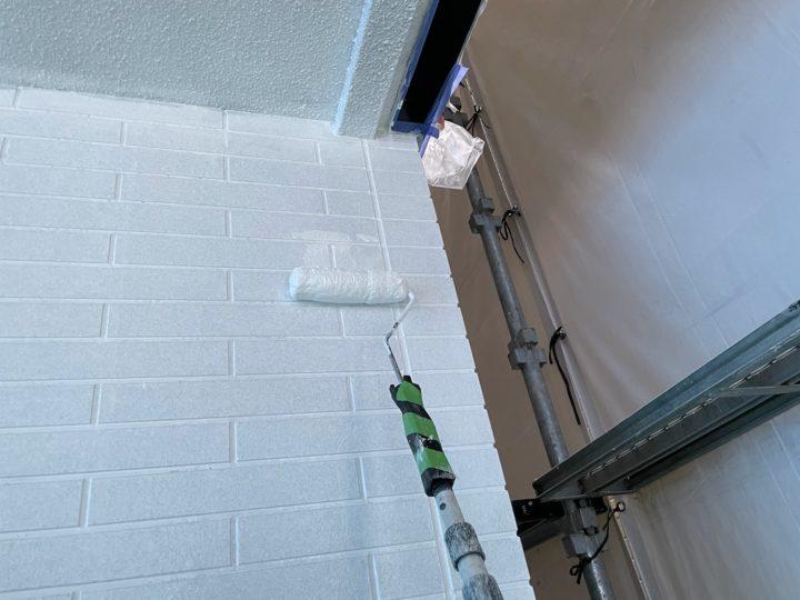 外壁塗装 下塗り2回目