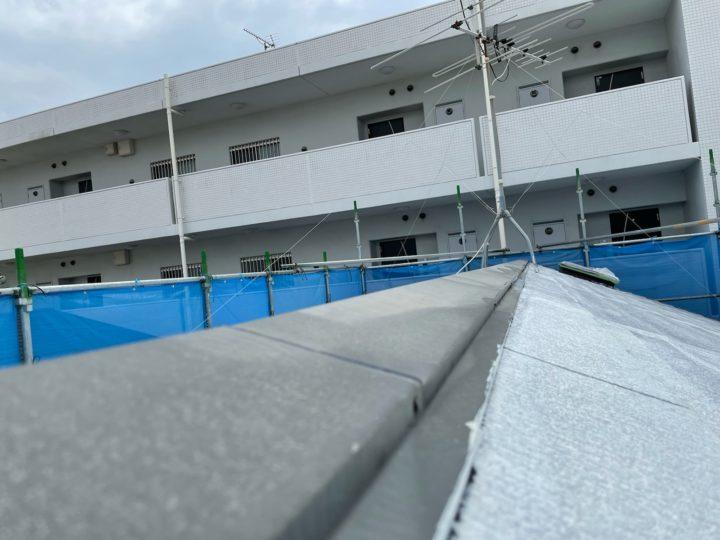 屋根塗装 雨押え板金現状