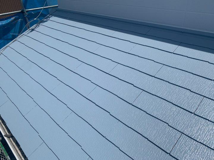 屋根塗装・棟押さえ板金 施工完了