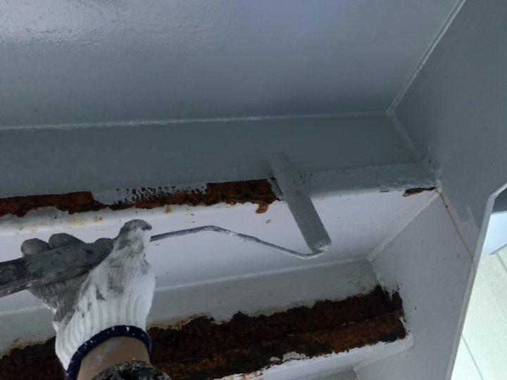 付帯部塗装 階段裏 錆止め