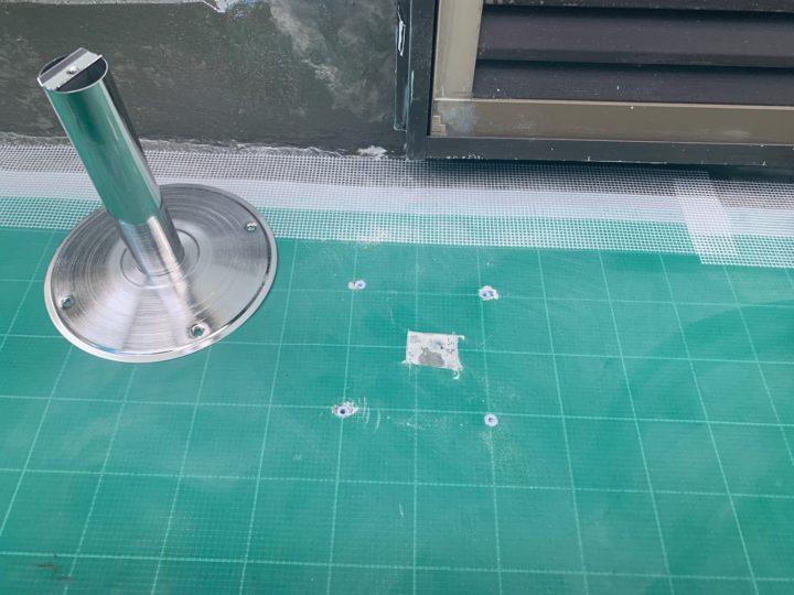 防水工事 脱気筒設置
