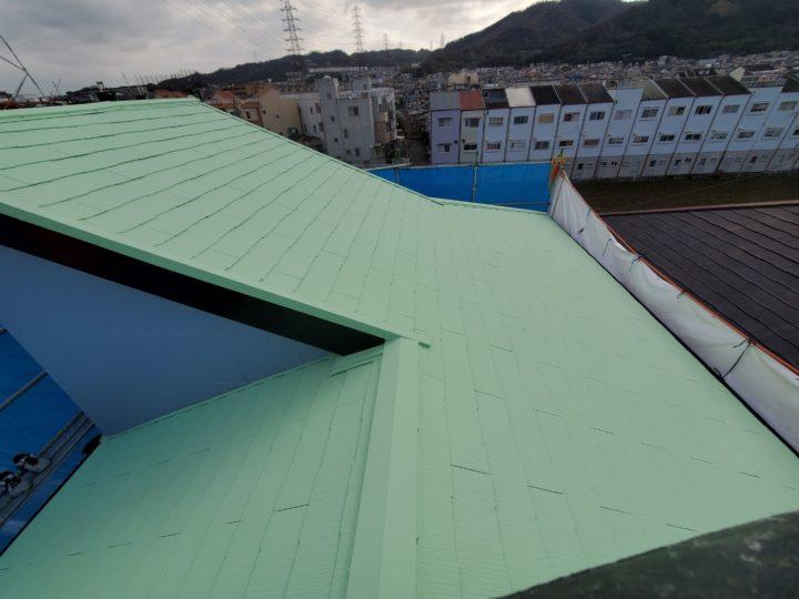 屋根塗装 施工完了