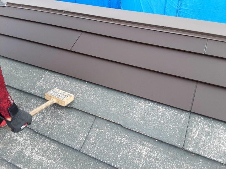 屋根カバー工事 打設